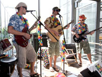 Die HdM-Band sorgt f�r die Musik (Foto: Sven Cichowicz)