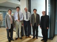 Prof. Dr. Hwa-Haeng Lee, Prof. Dr. Oliver Zöllner, HdM-Prorektor Prof. Dr. Wolfgang Faigle, Prof. Dr. Hyung-Gon Kim, Gottfried Ohnmacht-Neugebauer (Auslandsamt der HdM)