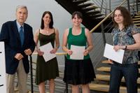 Prof. Andreas Papendieck, Helen Schneider, Katharina Goll, Katja Buchholz (Foto: Sven Cichowicz)