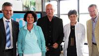 Die Jury: Prof. Stephan Ferdinand, Prof. Dr. Petra Grimm, Dr. Wieland Backes, Prof. Uta Kutter, Ralph Martin (von links)