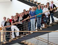 Das Team für die Buchmesse in Frankfurt (Foto: Daniel Schneider)