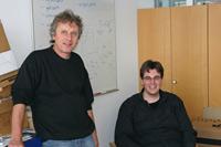 Prof. Walter Kriha und Norman Pohl (v.l.)