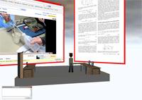 Arbeitsplatz in Project Wonderland: Einbettung von 2D-Anwedungen in eine 3D-Umgebung