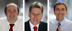 Prof. Dr. Wolfgang Faigle, Prof. Dr. Mathias Hinkelmann, Prof. Dr. Franco Rota (v.l.)