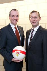 Botschafter Murphy (links) und Rektor Roos
