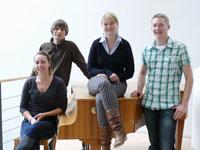 Das Final-Team der HdM: Larissa Walz, Lukas Klingel, Melissa Brosig und Manuel Fink (von links, Foto: Petra Rösch)