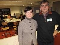 """Dr. Valentina Protopropova und Professor Dr. Sergej Dubinin im Seminar """"Geschichtenbasiertes E-Learning"""""""