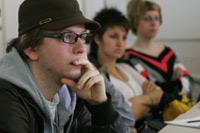 Studierende des Studiengangs Werbung und Marktkommunikation in der Vorlesung