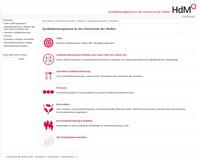 Die Startseite der HdM-QM-Plattform