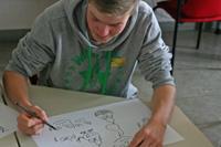 Am Boys'Day lernten die Schüler, wie Comics entstehen