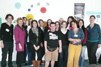 """Workshop """"Media Literacy for the Information Professional"""" mit den Gastdozentinnen Barbara Devilee und Esther Hammelburg, Hogeschool van Amsterdam (rechts, Foto: Susanne Häcker)"""