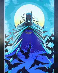 Das Batman-Poster im Tageslicht