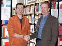 Erik Friedling (links) mit Prof. Dr. Karl Schaschek