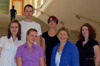 Das studentische Team um Professorin Ingeborg Simon
