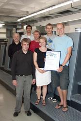 Das Projektteam mit Prof. Ronald Schaul (hinten, links)