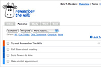 Führen einer To-do-Liste im Web mit Remember the Milk (Quelle: Remember the Milk).