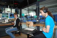 Im Studio des Hochschulradios an der HdM