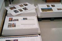 Viele Bogen Papier wurden gedruckt