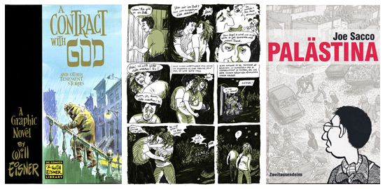 Die Themen der Graphic Novels sind ebenso vielfältig wie in der Literatur (Quellen: www.willeisner.com, www.comicgate.de, www.wdr3.de).