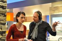 Programmteilnehmerin Dominique Balaton und SWR-Aufnahmeleiter Bernd Kunzi beim Training