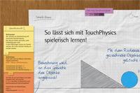 """Die Oberfläche der Multitouch-Anwendung """"TouchPhysics"""""""