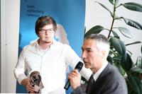 Feliks Eyser mit Veit Rambacher (von links)