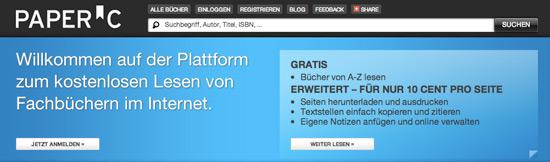 Die Online-Plattform PaperC (Quelle: paperc.de)