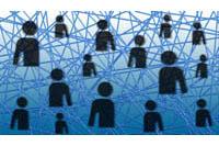 Soziale Netzwerke - sch�ne neue Kommunikationswelt oder Ende der Privatheit? (Foto: Gerd Altmann/pixelio.de)