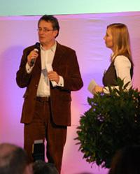 Gert Scobel beantwortet die Fragen von Moderatorin Alice Haußer