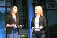 Die Moderatorinnen: Aileen Elsner und Eva Gnädig (von links)