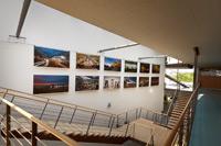 Die Ausstellung im Treppenhaus der HdM