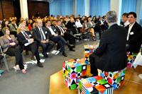 Die Podiumsdiskussion bot erste Impulse für die Panels am Nachmittag