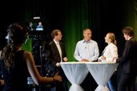 Alle Redner stellten sich den Fragen vom Moderation Alice Haußer (Fotos: Dominic Fuchs)