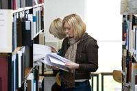 Die Bibliothek der HdM ist gut ausgestattet