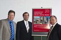 Rektor Ressel, Rektor Roos und Prorektor Assmann (von links, Fotos: Dominic Fuchs)