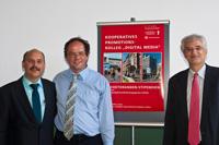 Die betreuenden Professoren: Dr. Bernd Eberhardt, Dr. Andreas Schilling und Dr. Thomas Ertl (von links)