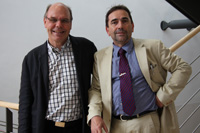 Verwaltungsdirektor Gerold Müller (links) mit Prorektor Prof. Dr. Franco Rota