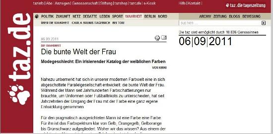 Quelle: Sreenshot taz.de
