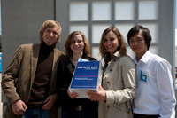 Das Projekt-Team (Foto: Stadtbücherei Stuttgart/Cichowicz)