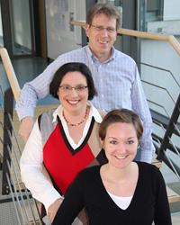 Das Team der HdM: Prof. Dr. Mathias Hinkelmann, Dr. Luz-Maria Linder und Maria Bertele