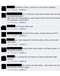 Bericht auf Facebook