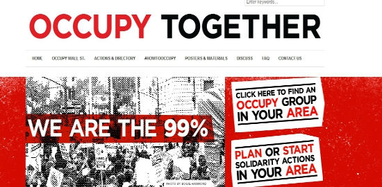 Quelle: Screenshot Occupy Homepage