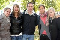 Die Teilnehmer aus Deutschland: Sophie Herrmann, Lisa Cibities, Celia Hohl, Kristina Scheurle und Florian Kraus