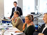 Der Ausschuss für Kultur und Medien der Stadt Stuttgart an der HdM
