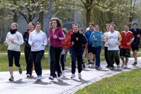Der Spendenlauf fand auf dem Campus in Vaihingen statt