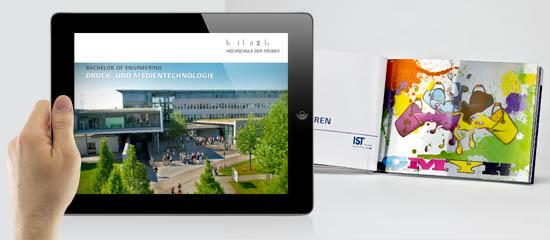 Print und Digital: Die neue Informationsbroschüre erscheint crossmedial.