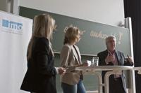 Frank Elstner stellte sich den Fragen der Nachwuchsmoderatorinnen
