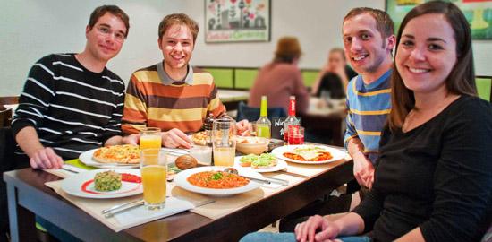 Die vier Preisträger: Maik Wieczorek, Marvin Pawlowski, Fabian Klein und Ulrike Armbruster (von links)