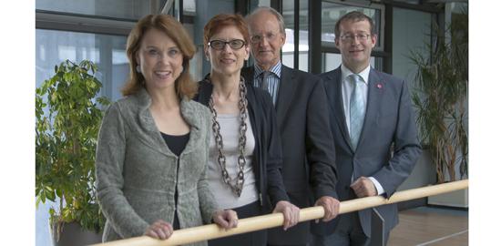 Gemeinsame Sprachlehre: Petra von Olschowski, Prof. Dr. Regula Rapp, Prof. Rainer Franke und Prof. Dr. Alexander W. Roos