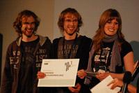 Die Preisträger: Michael Wünsch, Johannes Wünsch, Bianca Jürgens (von links, Foto: Veranstalter)